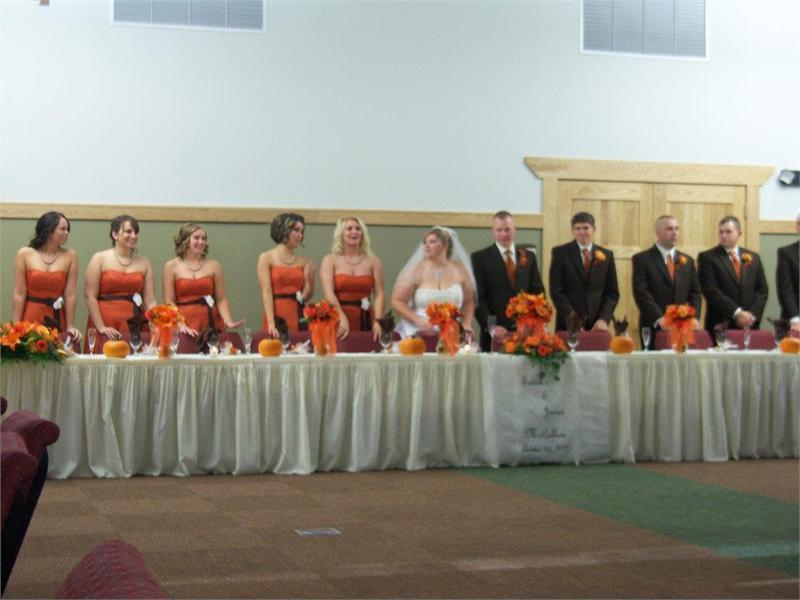 A Beautiful Fall Wedding Reception Head Table